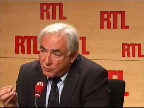 """Dominique Strauss-Kahn sur RTL : """"La crise économique n'est pas finie !"""" (04/02/10)"""