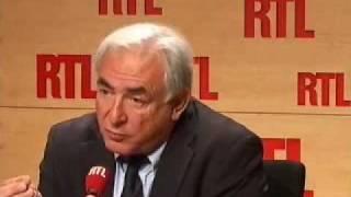 """Dominique Strauss-Kahn sur RTL : """"La crise économique n"""