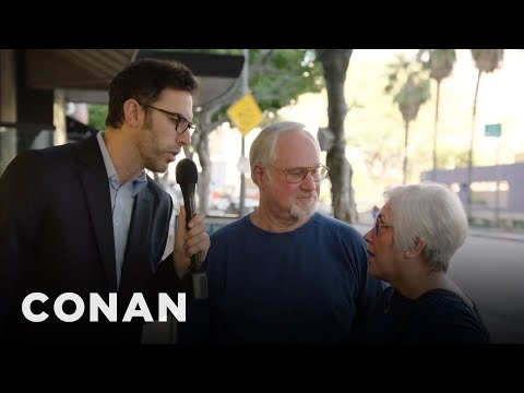 Sacha Baron Cohen Asks People On The Street What They Think Of Sacha Baron Cohen   CONAN on TBS