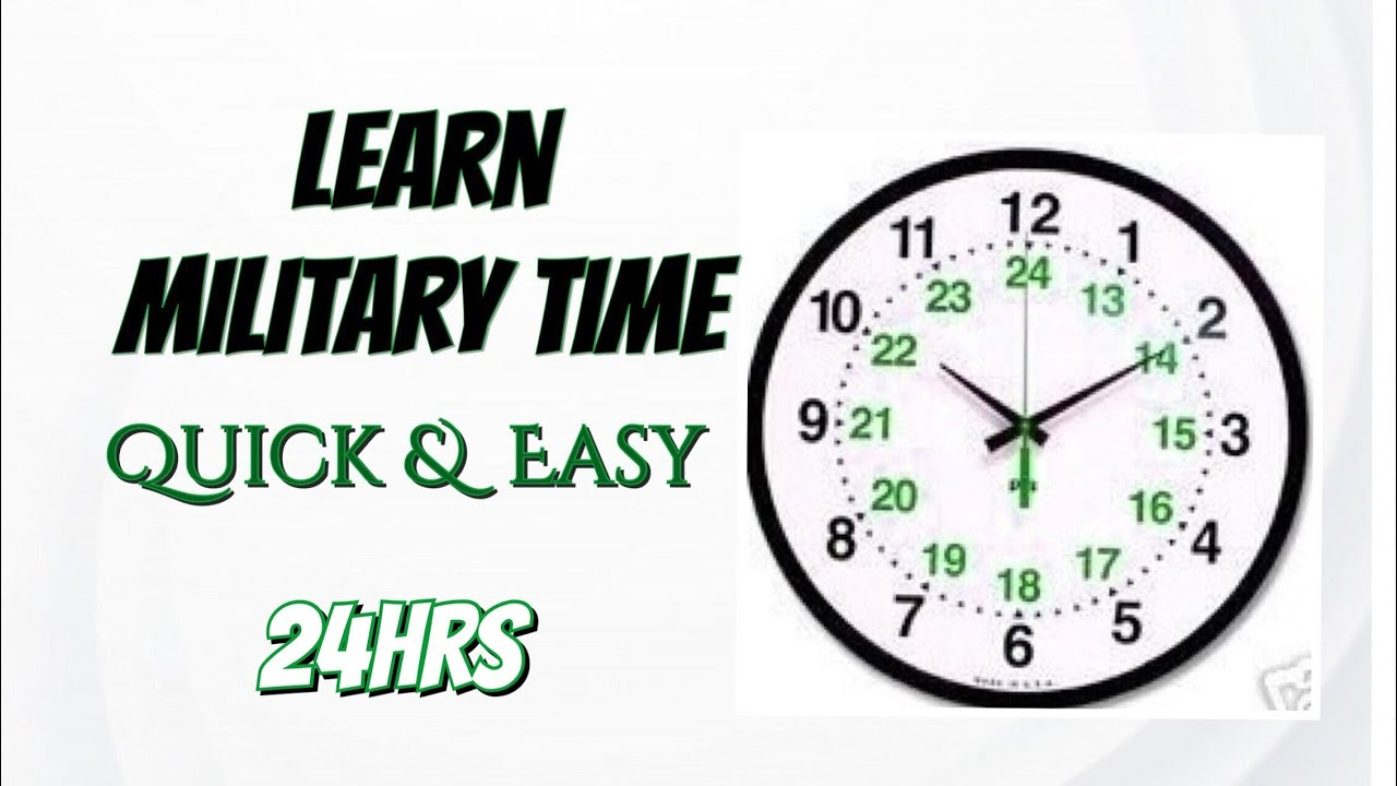 Military Time Clock >> Learn Military Time Quick Easy