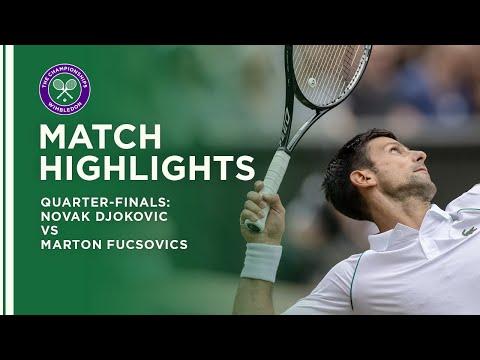 Novak Djokovic vs Marton Fucsovics   Quarter-Final Highlights   Wimbledon 2021