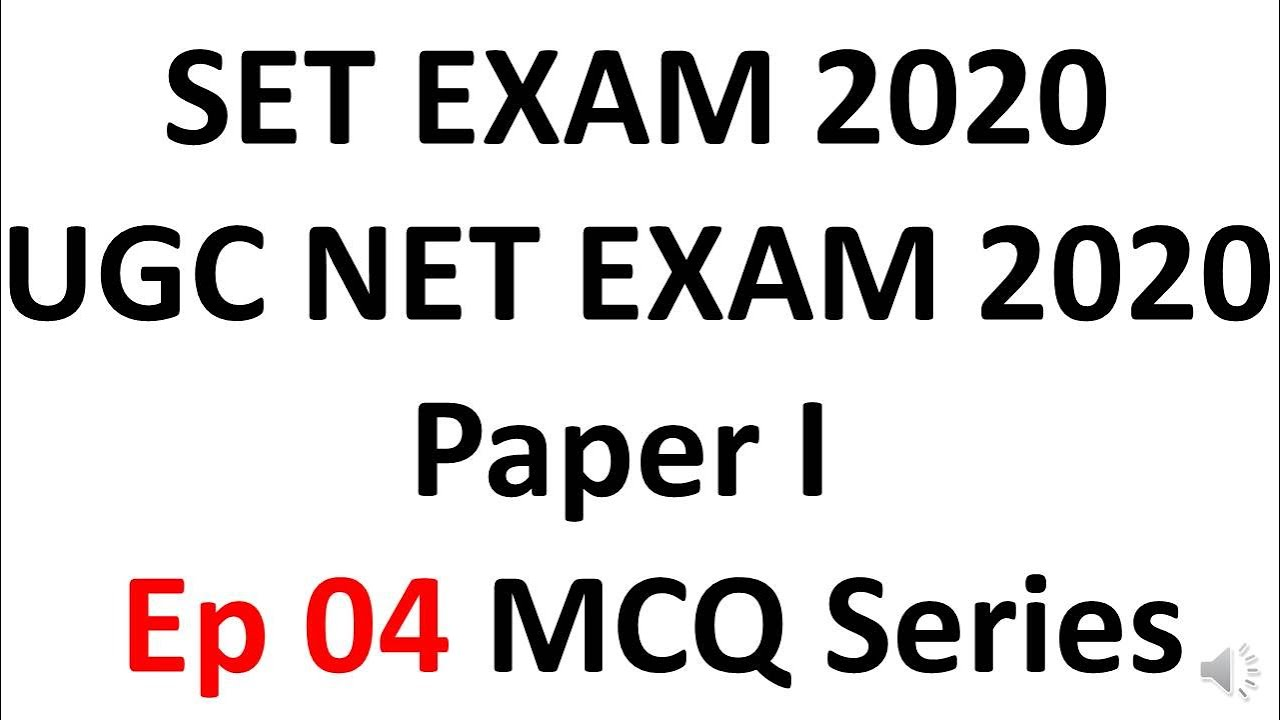 SET And UGC NTA NET Exam 2020 Preparation Paper 1 MCQ- Ep