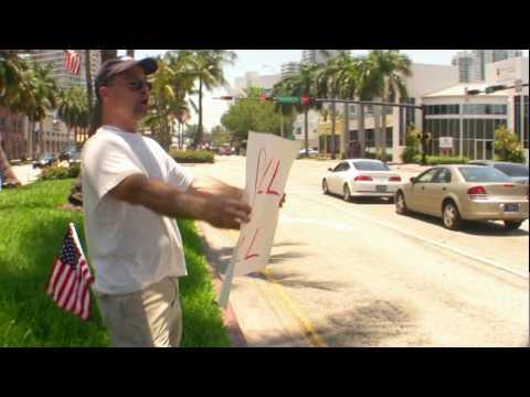 Miami Beach BP protest turns into: No Drill No Spill vs Drill Baby Drill