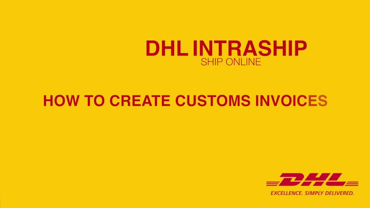 How To Create A Customs Invoice YouTube - Dhl proforma invoice template online music stores