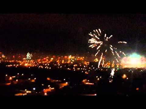 Christmas fireworks all over Guatemala City!!