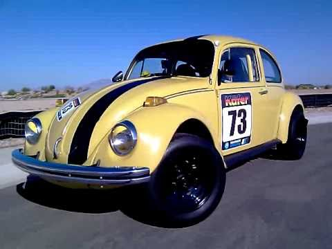 Car Leaking Oil >> Yellow 73 VW Kafer Beetle Race Bug COILOVERS BF GOODRICH ...