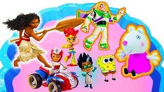 Персонажів для дітей, малюків, Свинка Пеппа, Щенячий патруль, Мій Маленький Поні, Моана, Спанч Боб, ПІ-маски 28