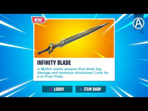 "NEW ""INFINITY BLADE"" Gameplay! (Fortnite Battle Royale)"