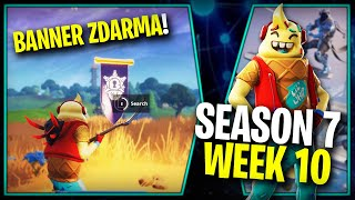 WHERE is the FIFTH FREE BANNER for the SEASON 7 (Week 10)-Fortnite Battle Royale CZ/SK