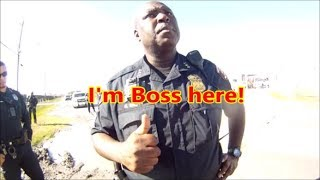 Houston,Tx.-School Police off campus misbehaving**PREVIEW**