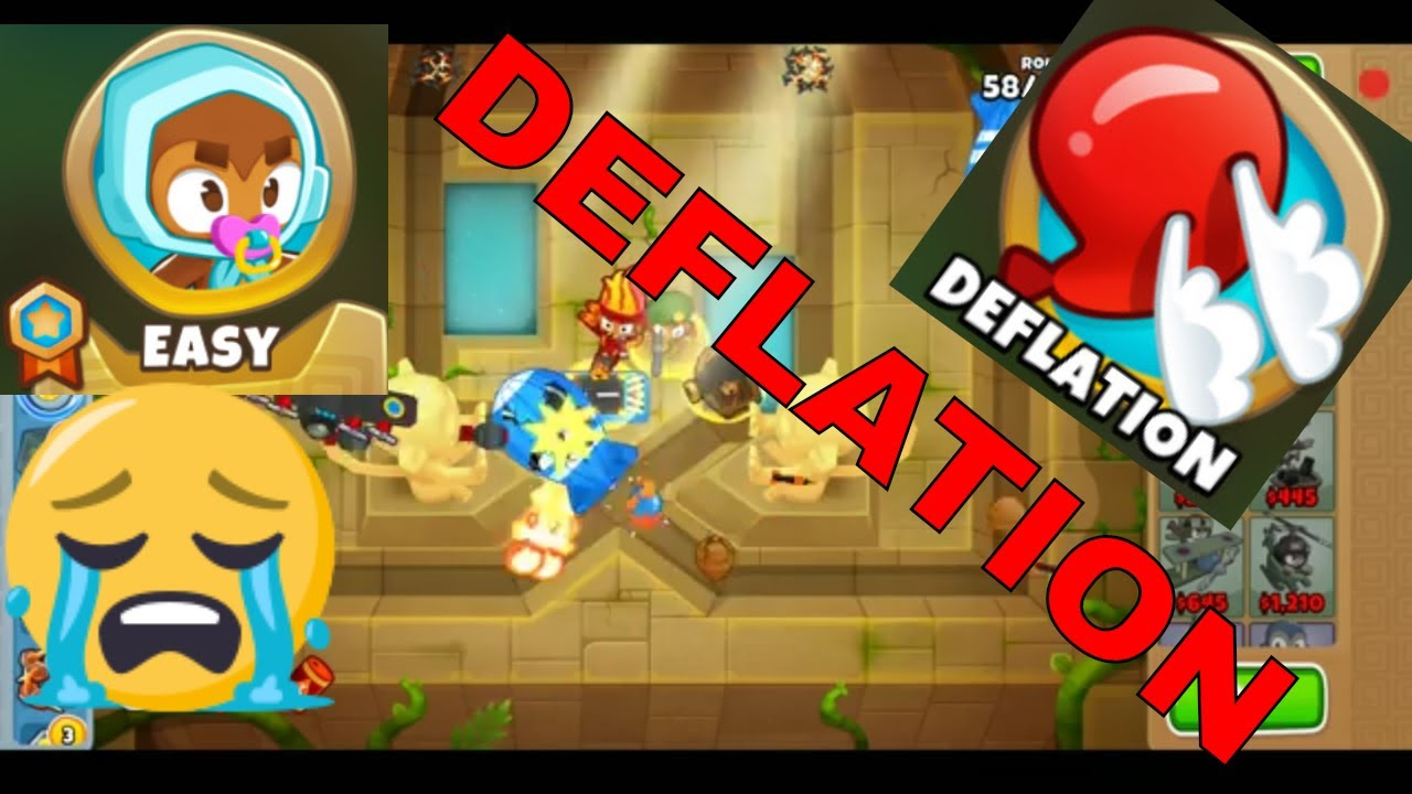 BLOONS TD 6 CHUTES MAP ON EASY DEFLATION MODE