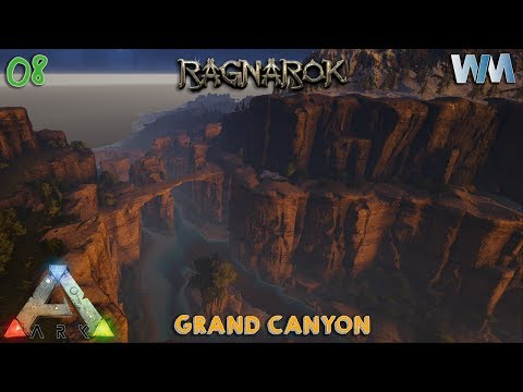 Ark Ragnarok EP08 - Grand Canyons & Hidden Cave - Base Locations Part 3! (GamePlay) [Iron Mine]