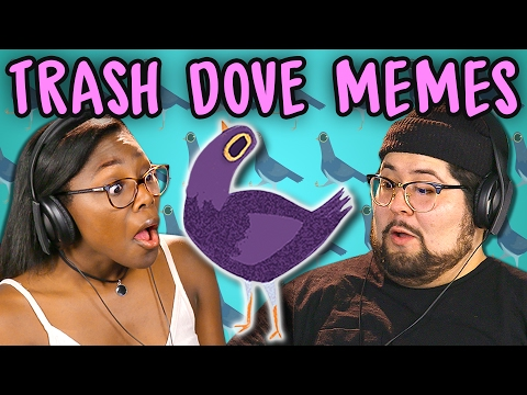 Thumbnail: COLLEGE KIDS REACT TO MEMES: TRASH DOVES COMPILATION (Purple Facebook Bird)