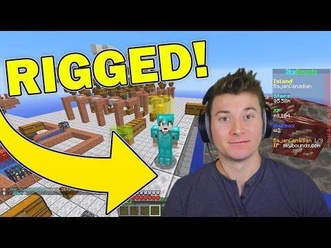 Minecraft Streamer RIGGED the server... (Hacks?)