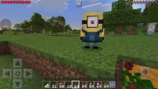 Minecraft pe sobrevivência com Minions #1