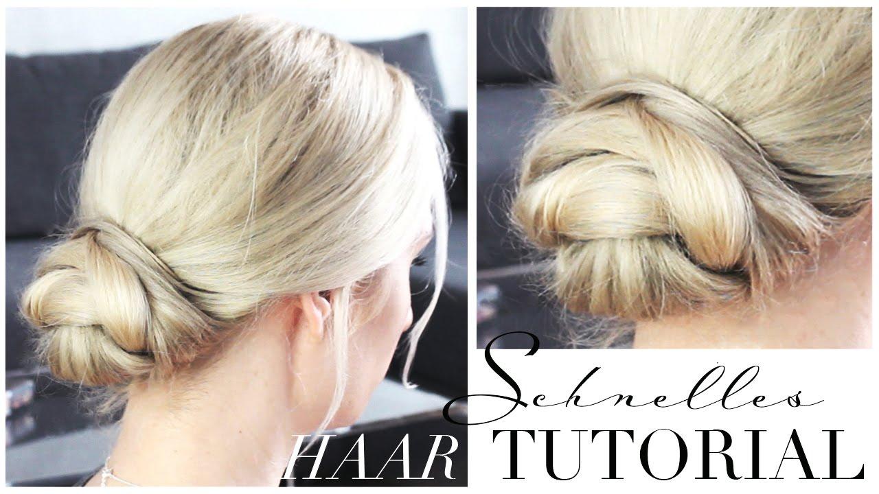 Leichte Hochsteckfrisur Für Jeden Tag Haarknoten Dutt Tutorial