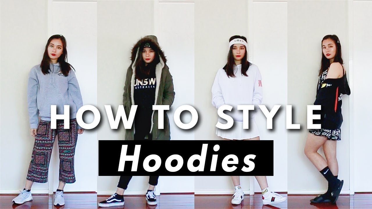 How to style hoodies | Fashion lookbook