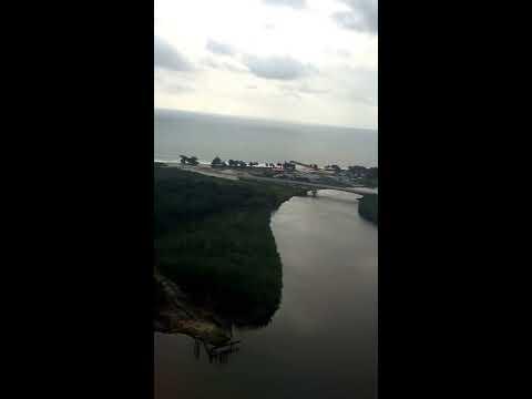 Landing at Bata International Airport (BSG), Bata, EQ (Passenger View) (HD)