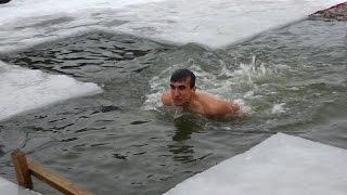 �������� ���� На Крещение суровые лиманские рыбаки усложнили испытание ������