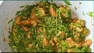 Spinach stew with beef [African Food Recipes]-Life as RuDi