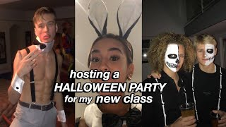hosting a HALLOWEEN PARTY for my NEW CLASS