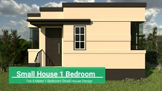 1 Bedroom Small House Design (7x6.5 M)