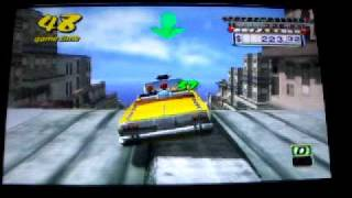 Crazy Taxi Fare Wars Psp GamePlay