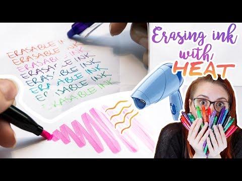 ERASABLE INK HACKS - FriXion Pens Tips & Tricks