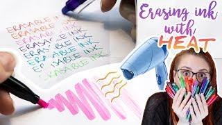 ERASABLE INK HACKS - FriXion Pens Tips & Tricks