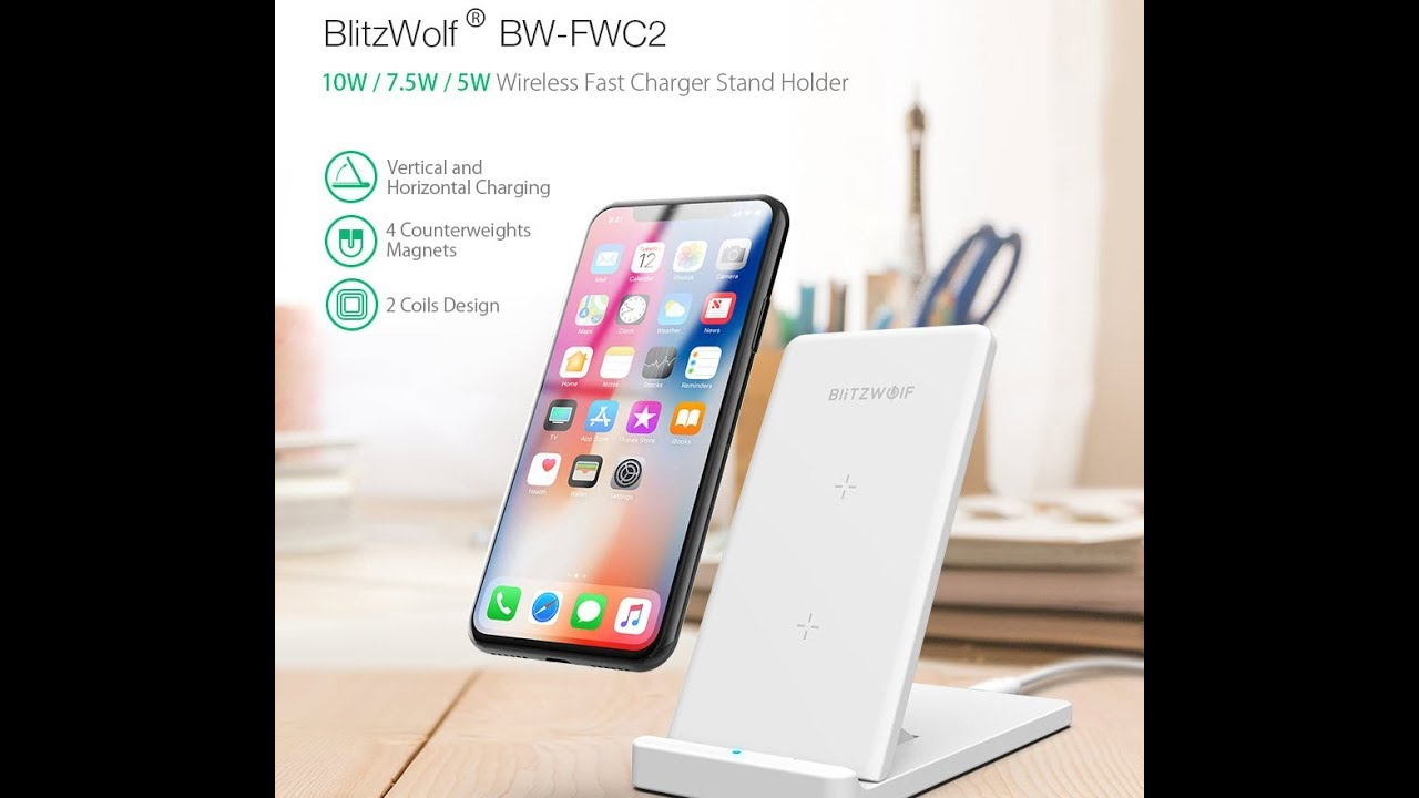 BlitzWolf® BW-FWC2 Foldable Wireless Fast Charger Unboxing and First  Impressions
