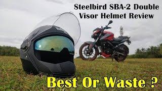 2018 Steelbird SBA2 Double Visor Helmet - Review - Best or Waste!