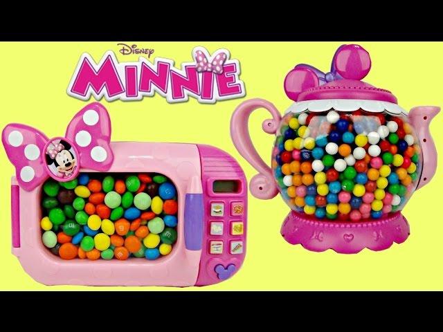 Disney Minnie Mouse Magical Microwave, HUGE Tea Pot, M&M's Gum Ball Toy Surprise, Learn Color / TUYC