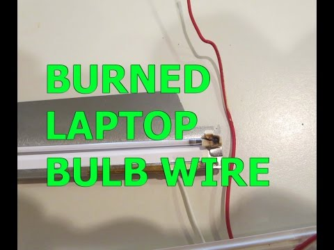 How To Repair?  NOT WORKING DIM  Notebook Computer Screen! Burned Laptop Screen Bulb Wire + Fixed