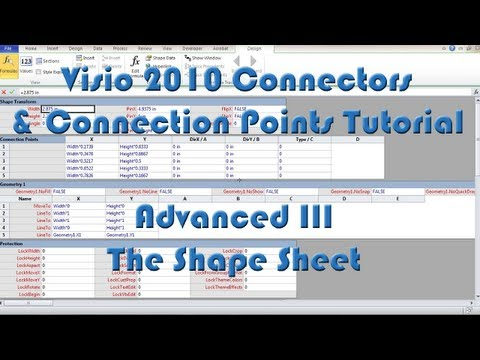 Visio 2010 Connectors And Connection Points Tutorial - Advanced III - The Shape Sheet