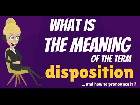 What is DISPOSITION? What does DISPOSITION mean? DISPOSITION meaning & explanation