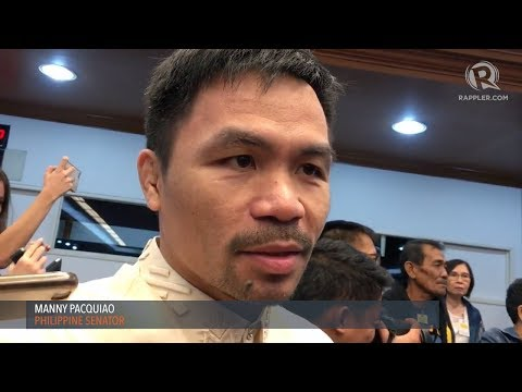 Pacquiao opposes Senate concurrence on treaty withdrawals