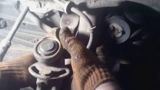 Смена верхней шаровой Volkswagen T-4. дома в гараже, без особого инструмента