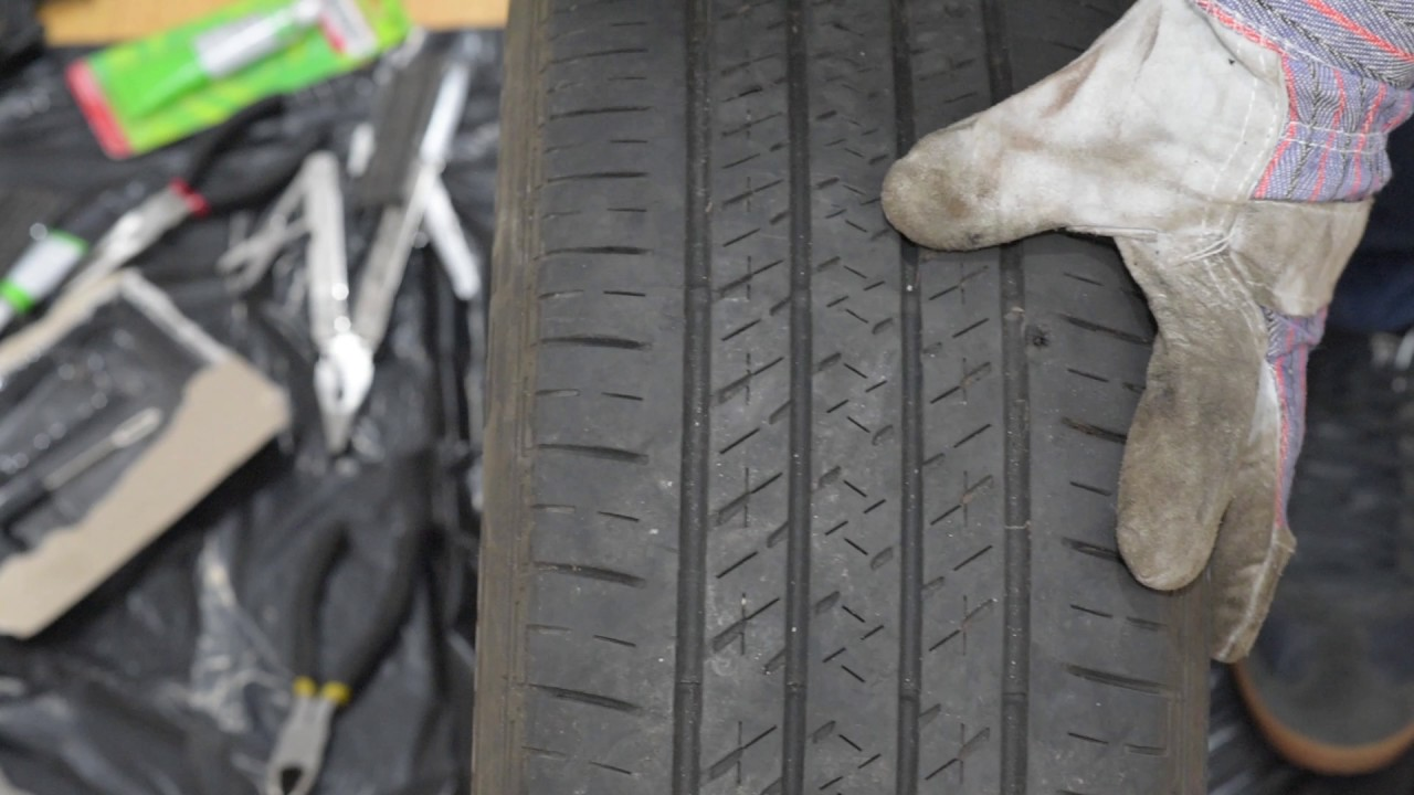 How to fix a flat tire with a Tire Plug Kit (DIY Tire repair, Nail ...