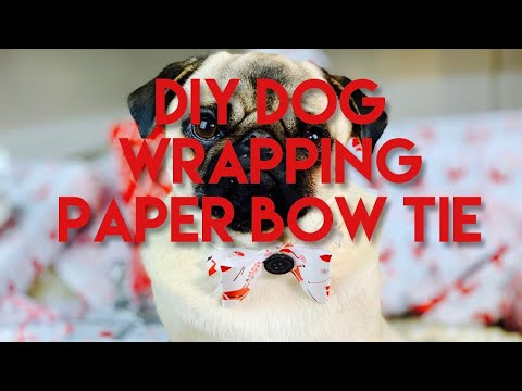 How to make a festive wrapping paper bow tie