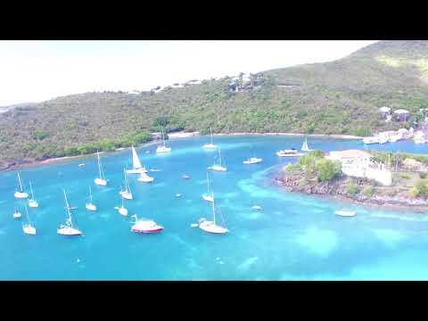 4K St. John, U.S. Virgin Islands - Cruz Bay - DJI Drone - AMAZING!