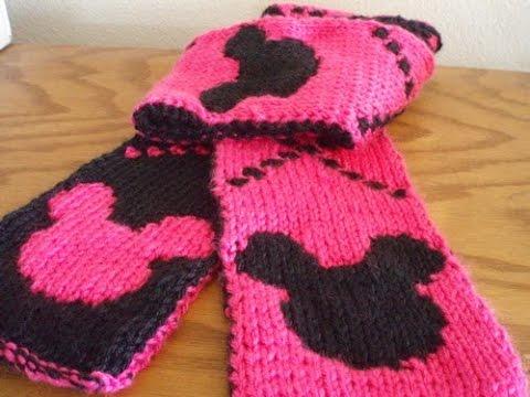 Đan khăn len hai lớp với 2 màu khác nhau
