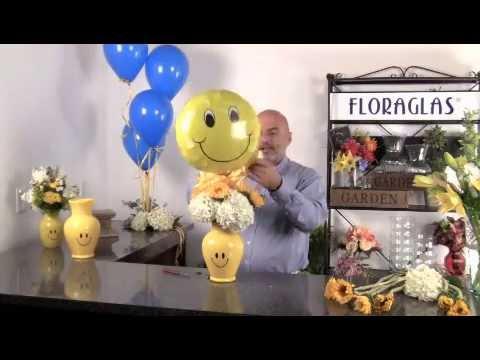 Floramart Focus 002 Floraglas Brand Smiley Face Vase From Garcia
