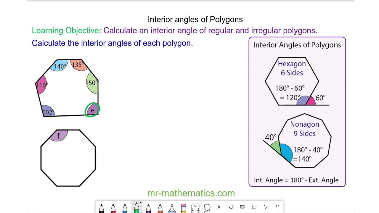medium resolution of Interior Angles of Polygons - Mr-Mathematics.com