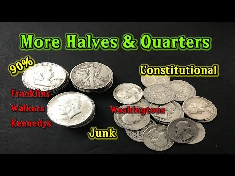 Junk Silver Halves and Quarters Picked Up Locally Using Letgo