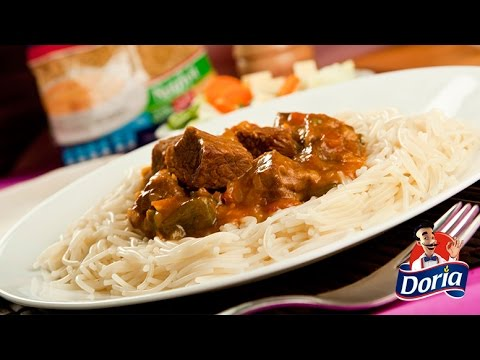 Fideos Doria con Carne
