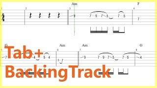 Rainbow - Temple Of The King Guitar Solo Tab+BackingTrack