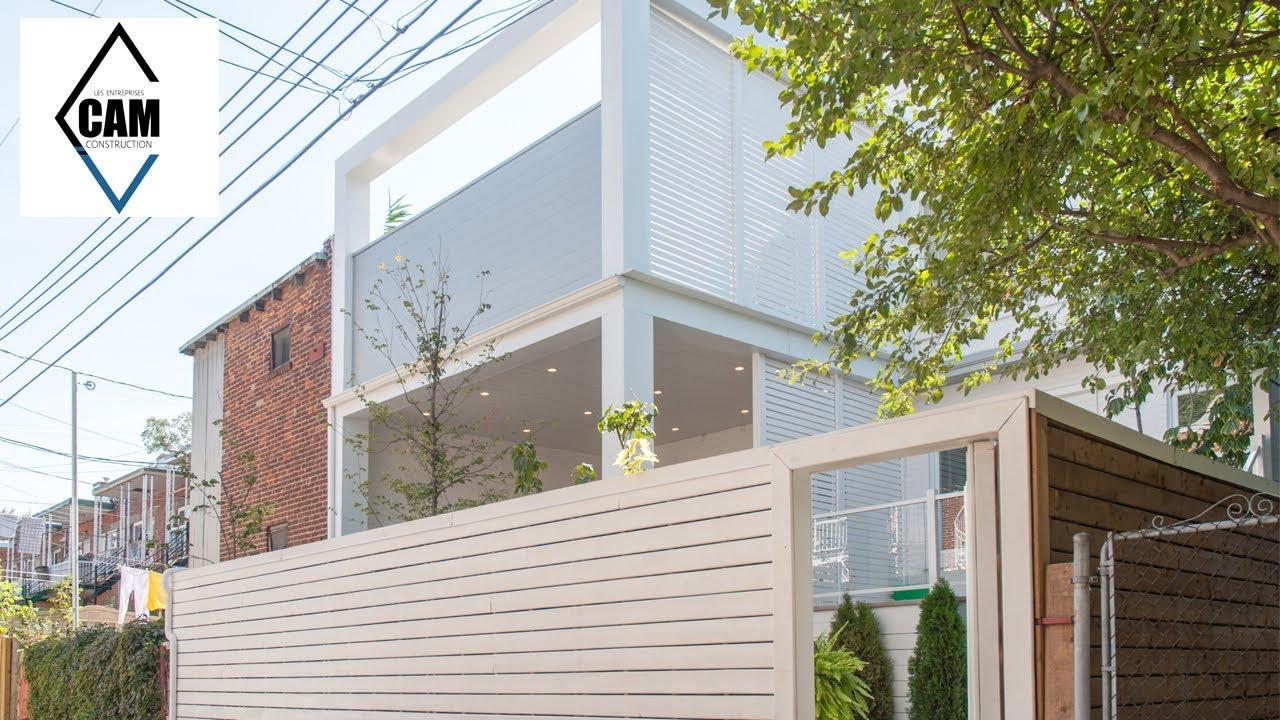 construction de balcon et terrasse montr al youtube. Black Bedroom Furniture Sets. Home Design Ideas