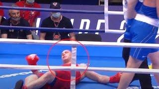 Это вам не Моряк с Чоршанбе. Боксёры устроили жесть в ринге. Лучший нокаут