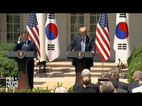 President Trump, South Korean President deliver joint statement