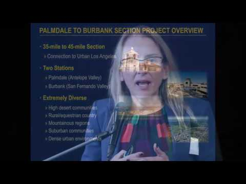 CAHSRA Palmdale to Burbank Open House Meeting